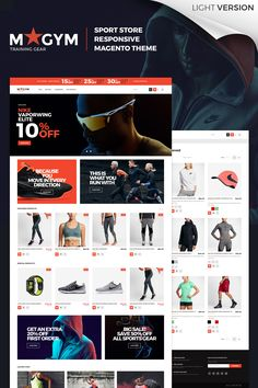 Magento Template , MyGym - Sport Store