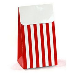 Favor Boxes - Red Stripe - Large