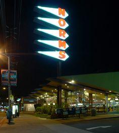 """norm's restaurant la cienega pylon sign"" by jamesjamesblack via flickr"