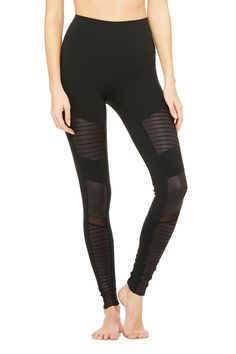 High-Waist Moto Legging | Women's Yoga Bottoms at ALO Yoga