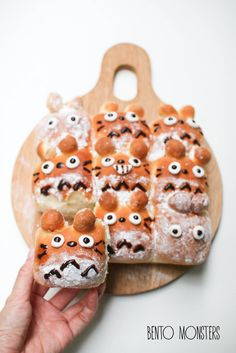 from Bento Monsters...Totoro bread, includes recipe
