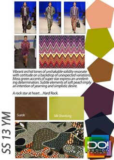 Textile and color trends in menswear, brought to you by a couple awesome forecasting companies; Design Options and Fashion Snoops.