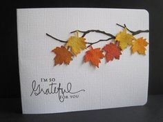 thanksgiving handmade amazing card 50 50 Amazing Handmade Thanksgiving Card can find Thanksgiving cards and more on our website Fall Cards, Holiday Cards, Christmas Cards, Diy Thanksgiving Cards, Beach Christmas, Happy Thanksgiving, Handmade Christmas, Tarjetas Diy, Leaf Cards