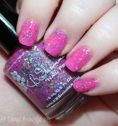 KBShimmer Pink- a -Colada  from the KBShimmer Summer 2015 Nail Polish Swatches & Review with Glitter & Neons on All Things Beautiful XO | www.allthingsbeautifulxo.com