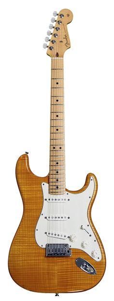 Fender Custom Shop Deluxe Stratocaster MN Amber Transparent 2013