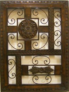"""Antique Style Abstract Metal Wall Sculpture -- 31""""x24"""" by city art. $89.99. Measures 31"""" by 24"""". Ready to hang wall art. Professionally crafted abstract metal wall sculpture. This unique work of art is created meticulously to classically decorate your place of living. It brings lots of charm and is a perfect gift idea and a collector's delight. Order with confidence. This image is of the actual item in normal lighting conditions and never re-touched or contrast adjusted...."""