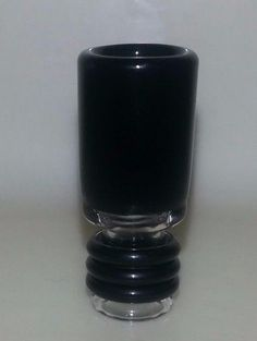 USA MADE Black Hand Blown  Glass Drip Tip for Tank, RDA, RBA
