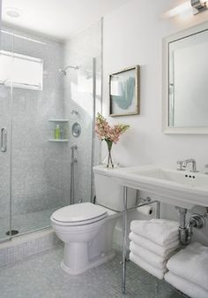 [ Tiny House Bathroom Design Ideas For The And Bathrooms Best You Fresh Beutiful ] - Best Free Home Design Idea & Inspiration Beach House Bathroom, Small Bathroom Tiles, Bathroom Tile Designs, Beach Bathrooms, Bathroom Design Small, Grey Bathrooms, Bathroom Interior Design, Bathroom Styling, Modern Bathroom