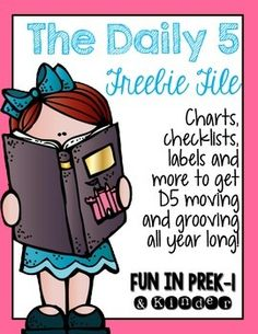 In this file you will find lots of freebies to get the Daily 5 going and rolling smoothly in your classroom! Included so far is. Daily 5 Reading, First Grade Reading, Teaching Reading, Guided Reading, Literacy Work Stations, Reading Stations, Writing Centers, Daily 5 Management, Daily 5 Chart