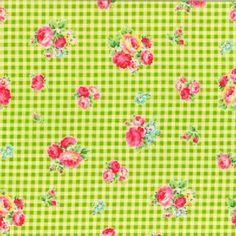 Lecien - Flower Sugar 2013 - Checkers in Green - 8.50