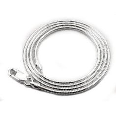 Bling Jewelry 2mm Italian 040 Gauge Sterling Silver Snake Chain Necklace 20in Bling Jewelry. $39.99. Lobster Claw Clasp. Snake Chain. Weight approximately 8.4 grams. 2mm wide. .925 Sterling Silver