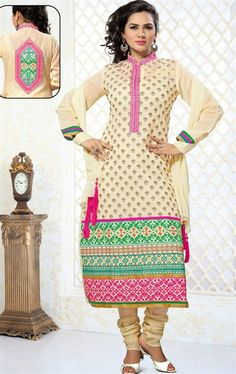 Picture of Glamorous Buttercream Indian Salwar Suit
