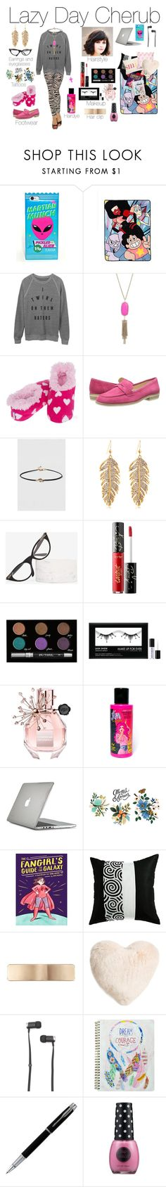 """""""Lazy Day Cherub"""" by emmasart ❤ liked on Polyvore featuring Kendra Scott, Nine West, Fantas-Eyes, tarte, Urban Decay, MAKE UP FOR EVER, Viktor & Rolf, Manic Panic NYC, Speck and Tattly"""