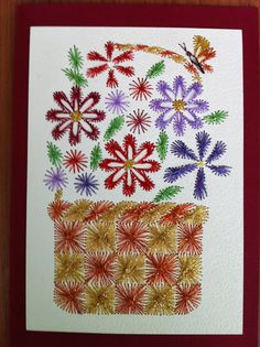 USKRS 2013 - Maja Bodi - Picasa Web Albums Embroidery Cards, Hand Embroidery, String Art, Paper Flowers, Projects To Try, Album, Stitching, Sewing, Knitting