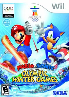 Mario and Sonic at the Olympic Winter Games - #games, #Sonic, Mario, Olympic, winter.