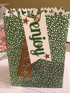 Stampin' Up! Mini Treat Bag Thinlits Dies, This is a perfect size for a large cookie.