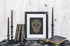 Skull tattoo ornament illustration for halloween от ISKRArt