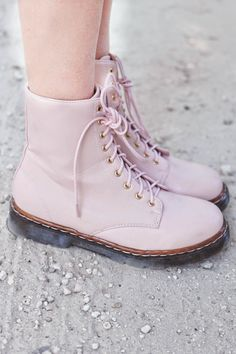 pastel pink @D R. Martens... they already exist? I loved them years ago, when I was young!!""