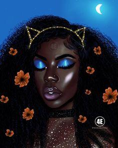 Pretty Brown Lady Framed Art Print by foreverestherr Black Love Art, Black Girl Art, Black Girls Rock, Black Is Beautiful, Black Girl Magic, Beautiful Goddess, Hello Gorgeous, Drawings Of Black Girls, Teenage Drawings
