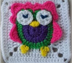 [Free Pattern] This Owl Square Could NOT Be Any Cuter!