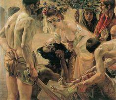 Lovis Corinth. Salomé II 1899-1900. Huile sur toile 127 x 147 cm