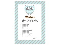 Boy Owl Themed Baby Shower Game, Baby Boy, Activity, Boy Hoot Baby shower, Game Prize, Unique Baby Shower, olg1