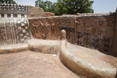 Picture of Tiébélé painted houses (Burkina Faso): Traditional and modern styles…