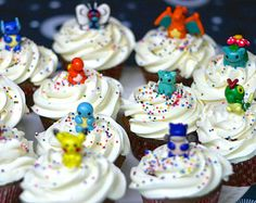 Pokemon Cupcake Toppers/Party Favors Set 1 Dozen (Made to order)
