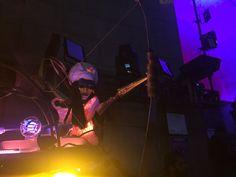 Light Projector alien, nyfol,Light Festival Brooklyn Bridge, Fall 2014