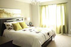 Pamela Pryce: Pamela Pryce master bedroom in white, gray, silver, brown and green!