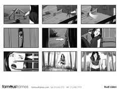 FamousFrames Storyboards, Animatic Artists, Storyboard Artists, Rudi Liden