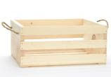 "large crate with rope handles 2-99=$9.00 each; 16""x13""x7.5"""