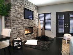 Welcome to StoneRox - - a superior, manufactured stone veneer. Our products are designed for both residential & commercial properties. Fireplace Gallery, Fireplace Ideas, Dry Stack Stone, Manufactured Stone Veneer, House, Design, Home Decor, Basement, Mountain
