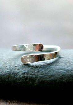 Knuckle Ring Sterling Silver Adjustable