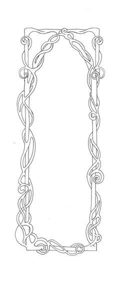 Free - Art Nouveau Border by BiSnarkian on DeviantArt Motifs Art Nouveau, Design Art Nouveau, Art Nouveau Pattern, Art Nouveau Mucha, Alphonse Mucha, Tattoo Creative, Stencils, Jugendstil Design, Kids Watercolor