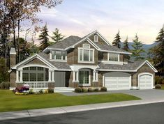 images about Houses on Pinterest   House plans  American    House Plan   Country Craftsman Plan   Sq  Ft   Bedrooms