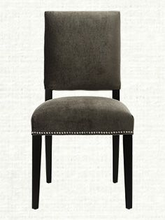 Torino Upholstered Dining Side Chair In Vanetta Grey And Espresso