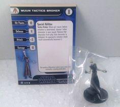 12X Star Wars Force Unleashed 54/60 Muun Tactics Broker (C) Miniatures