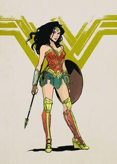 """Wonder Woman"" promotional art by Annie Wu Wonder Woman Party, Wonder Woman Movie, Wonder Woman Logo, Superman Wonder Woman, Dc Comics, Comics Girls, Gal Gadot, Marvel Dc, Karin Naruto"
