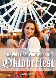 'Glam your Gram at Oktoberfest by visiting these 10 photography locations. Your feed and followers will thank you for documenting your trip with more than just photos of beer steins! Munich Oktoberfest, German Outfit, Beer Photos, Dirndl Dress, Pretty Photos, Eurotrip, Fall, Photography, Fotografie