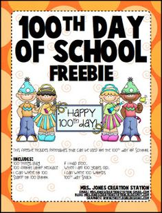 Happy 100th Day of School! Below you will find a link to my 100th Day of School Freebies. I hope you enjoy this freebie and have a great 1...