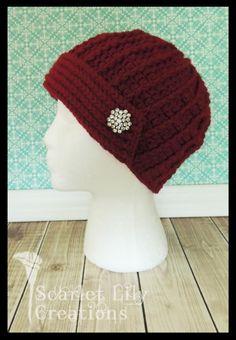 (4) Name: 'Crocheting : Flapper-Style Crochet Hat