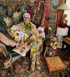 @botanicaetcetera  Whimsical decor No.2. Iris Apfel in her fashionably fun…