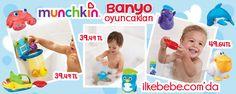 Munchkin Banyo Oyuncakları ilkebebe.com'da http://www.ilkebebe.com/Marka/Munchkin.aspx
