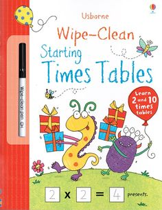"""""""Wipe-clean starting times tables"""" at Wise Owl Kids Owl Kids, Clean Book, Times Tables, Stem For Kids, Math Books, Wise Owl, Activity Sheets, Preschool Kindergarten, Book Activities"""