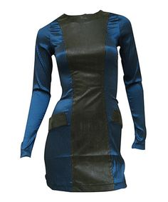 Another great find on #zulily! Blue & Black Railroad Stripe Bodycon Dress by Nuvula #zulilyfinds