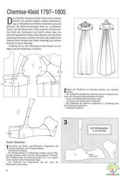 regency dress pattern from bodice block