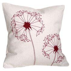 Handmade cotton pillow with a dandelion design.   Product: PillowConstruction Material: CottonColor: C...