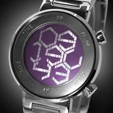 LCD Watch Design with Hexagonal Display, Time, Date, Alarm and Backlight: Zone