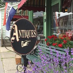 We think the best way to glide into a summer weekend is with some Antiques!!!! #antiqueshop #lavender #newtotheshop…